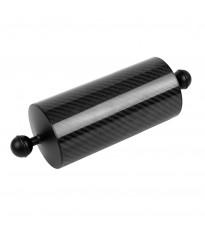 Braccetto di 22 cm e Diametro 8 cm in Carbonio Galleggiante per Staffe e Supporti, con 2 Sfere da 25 mm e 600 gr. Galleggiamento