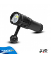 Torcia Subacquea per foto e video Hi-MAX, Modello V17, 100°, 2 LED XP-L2 U2, 2200 Lm