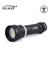Torcia Subacquea per foto e video Hi-MAX, Modello X8, 120°, LED XM-L2 U2, 1000 Lm