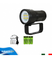 Torcia Subacquea per Foto e Video, Modello L6 New, 6 LED 9090, 6000 Lm