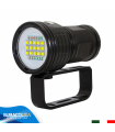 Torcia Subacquea per Foto e Video, Modello L15 New, 15 LED XM-L2 U2, 6000 Lm