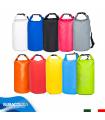 Sacca Zaino da 10 Litri, Borsone Impermeabile in PVC, Borsa Stagna per Barca, Piscina e Mare