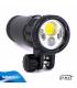 Torcia Subacquea per foto video e spot Hi-MAX, Modello V14, 1 LED CXB1830, 4000 Lm