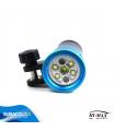 Torcia Subacquea per foto e video Hi-MAX, Modello V11, 140°, 4 LED XM-L2 U2, 3200 Lm