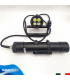 Torcia Subacquea Speleo S.S.N., Modello H02, 4 LED XHP35, 4500 Lm