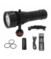 Torcia Subacquea di Backup, Primaria e per Foto e Video, Modello L3 Mono, 3 LED XM-L2 U2, 1500 Lm
